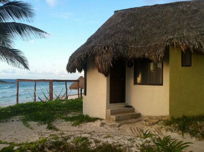 This was home sweet home for a whole week:  cottage no. 2 at Maya Tulum, Mexico.